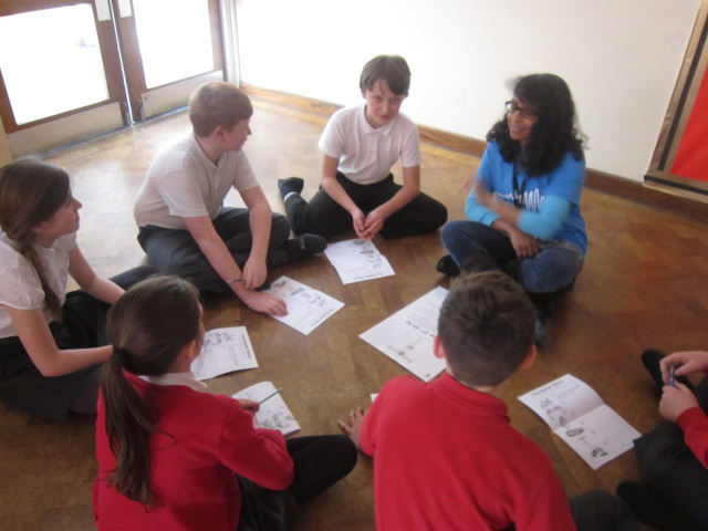 A group exploring part of the Easter story