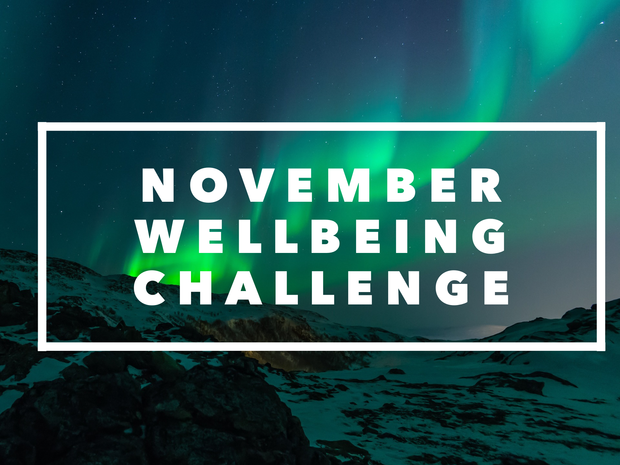 November Wellbeing Challenge