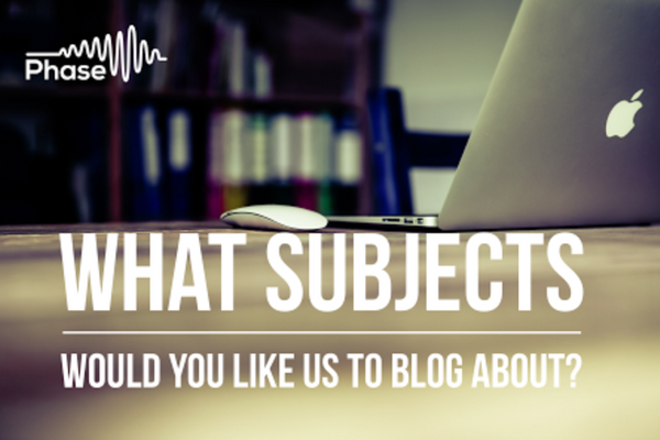 What to blog about?